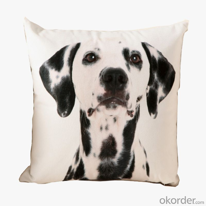 Fashion Pillow Cushion with Lovely Dog Design for Decoration