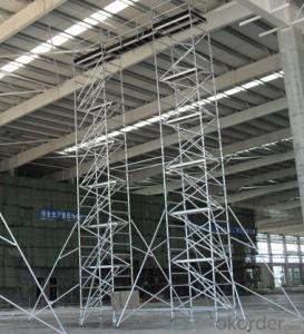 Ladder Frame Steel Rolling Scaffold with rubber wheel CNBM
