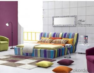 Bedroom Fabric Furniture with Colorful Printing
