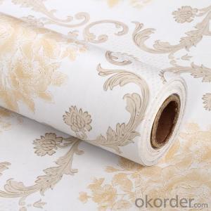 Self-adhesive Wallpaper 2015 New Arrival Decorative 3d PVC Wallpaper
