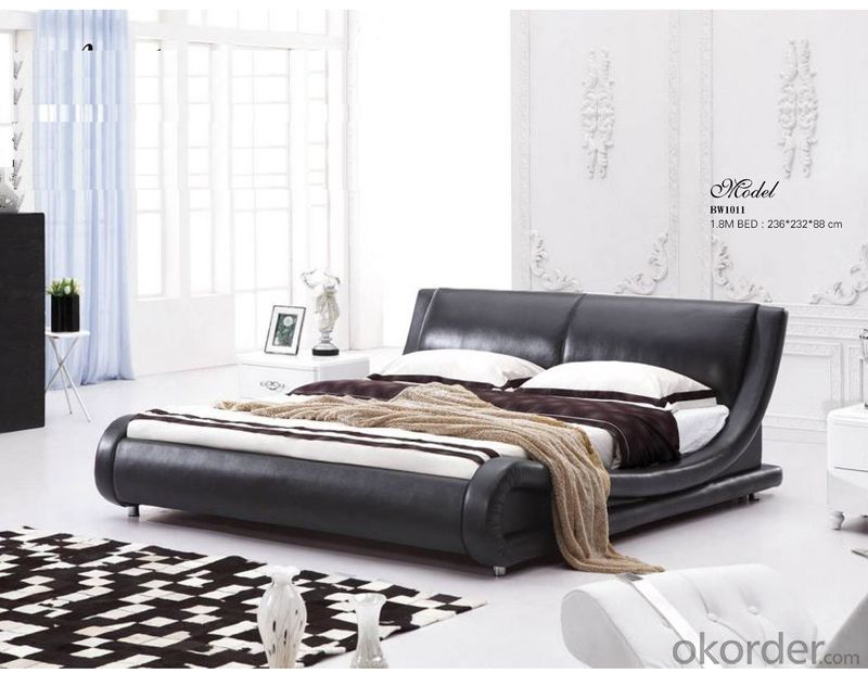 Bedroom Furniture Leather Bed of Popular Style