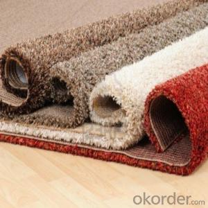 100% Polyester Shaggy Carpet / Rug for Exhibiton