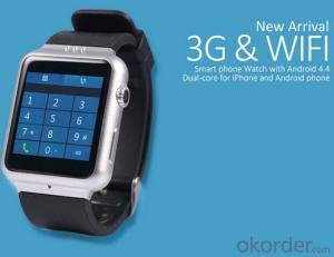 Smart Watch in 2.0M Camera Smart Phone Watch Android Operate System 4.4