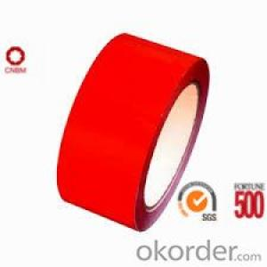 Bopp Tape Red Color 40 Micron Width48mm Length66m Strong Adhesion SGS&ISO9001