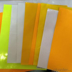 PVC Honeycomb Printing Films Yellow Reflective Film for Safty