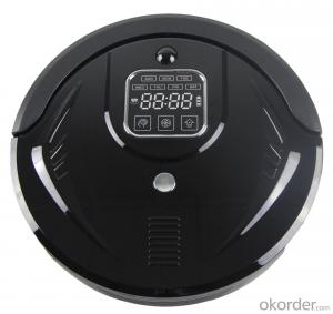 Robot Vacuum Cleaner with LED Indicator and Remote Control