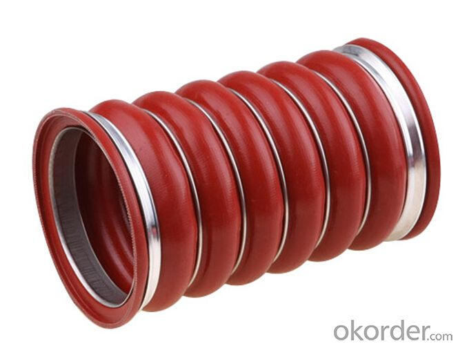 Rubber  Silicone Pipe High Pressure for Automotive Red