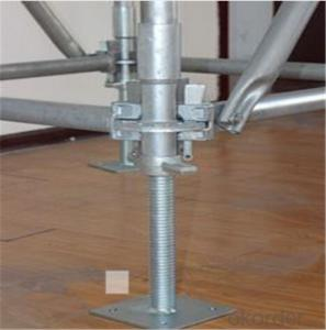 M38*4*600mm Hollow Screw Base Jack 150x150x5mm for Ringlock Scaffold CNBM
