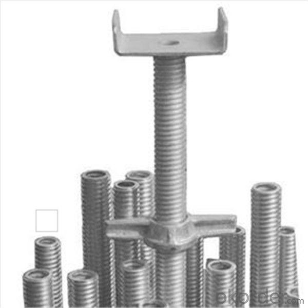 M38*4*600mm Hollow U head Screw Jack 150x120x50x4mm for Ringlock Scaffold CNBM