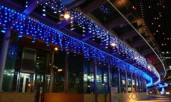 PVC Line Blister AB Glue Encapsulated LED Icicle Lights