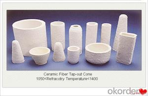 Ceramic Fiber Special Shaped Tap Out Cone 1260 STD Vacuum Formed Aluminium Casting