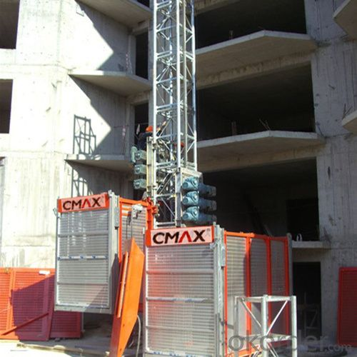 Building Hoist SC120 Single Cage with Speed Control Precision can Reach ±2~3%