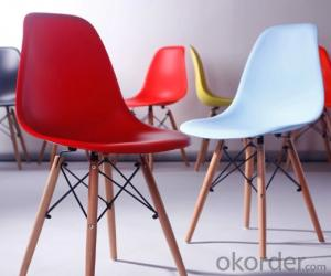 Fabric and Plastic Eames Chair, Simple Design with Leisure Elements