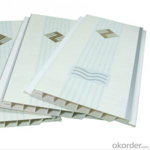 PVC Ceiling Panel for Wall White and Wood Color