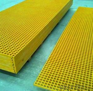 FRP Grille, FRP Pultruded Grating 40mm*40mm*thickness 30mm