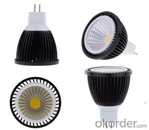 LED Spotlight Dimmable COB GU10 RA>90 120 Degree Beam Angle 85-265v with CE