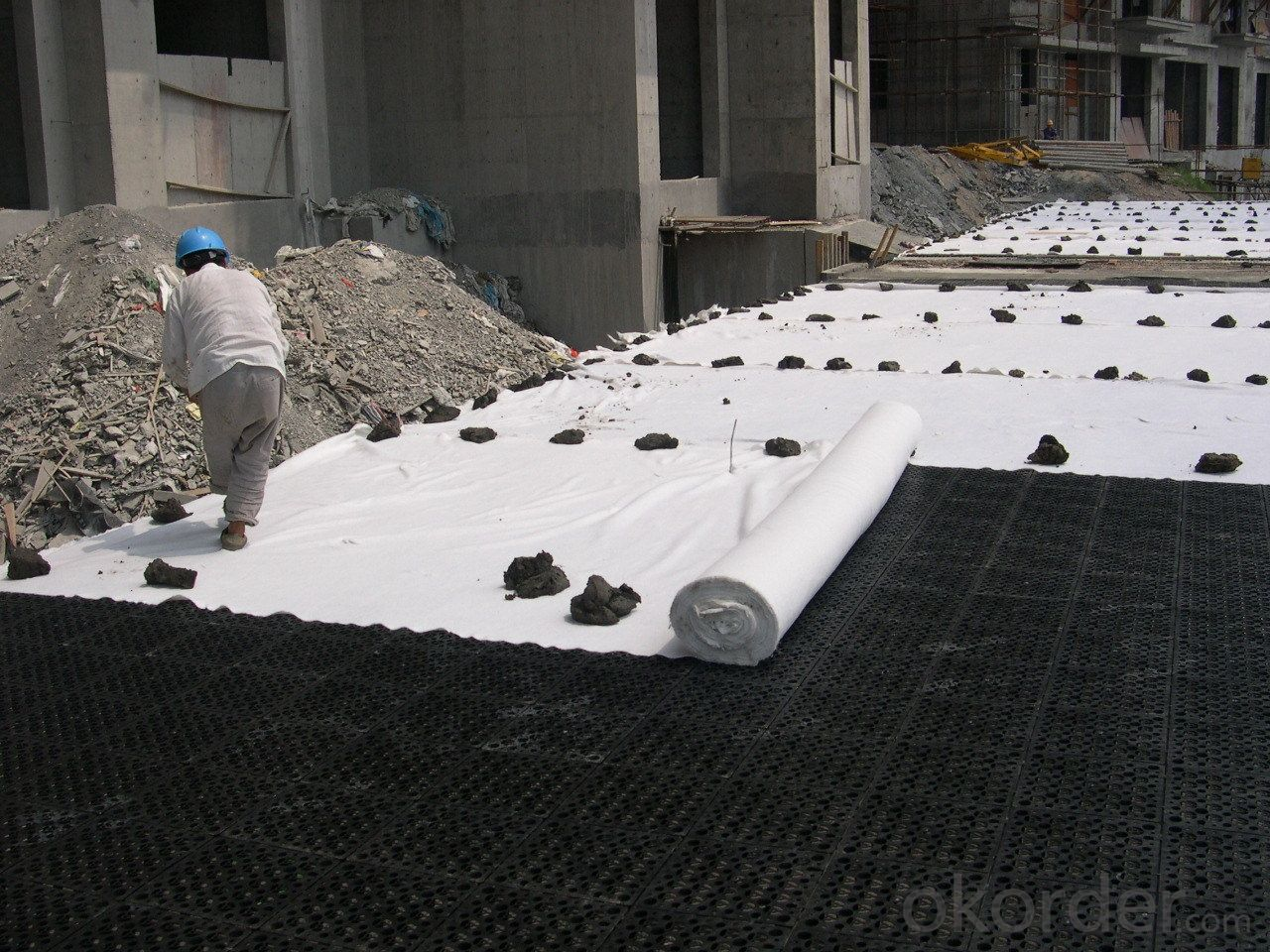PP Woven Geotextile for Long Fibers with High Strength