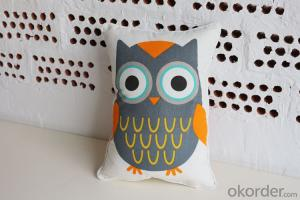 Lovely Pillow Cushion with Red Bird Design for Sofa Decoration