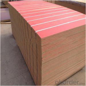 Solid Color Melamine Grooved MDF for Indoor Usage