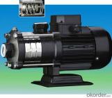 Bomba de agua centrífuga multietapa horizontal de acero inoxidable CHL/CHLF(T)