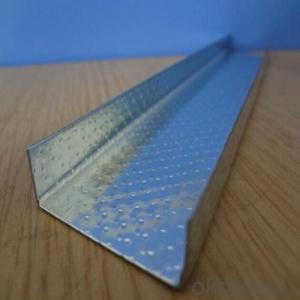 DRY WALL METAL PROFILE OF U CHANNEL ZINC GALVANIZED