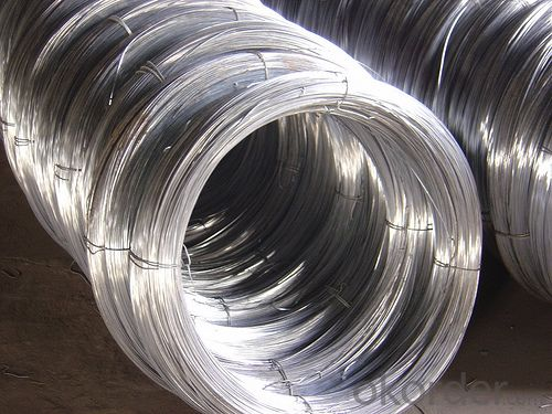 Silver Surface Heat-treated Galvanized Wire / Low Carbon Steel Shine Gi Wire