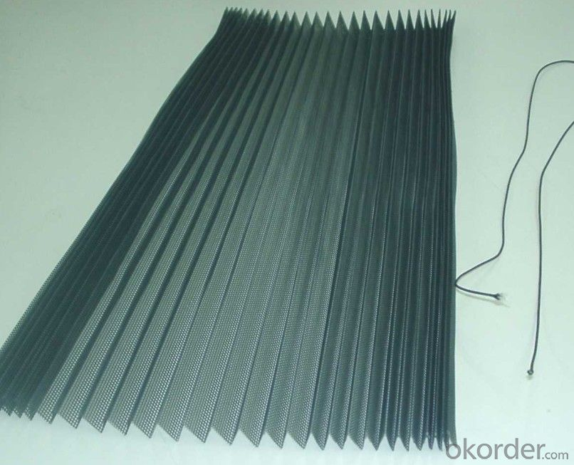 Fiberglass and Polyester Pleated Mesh in Stock