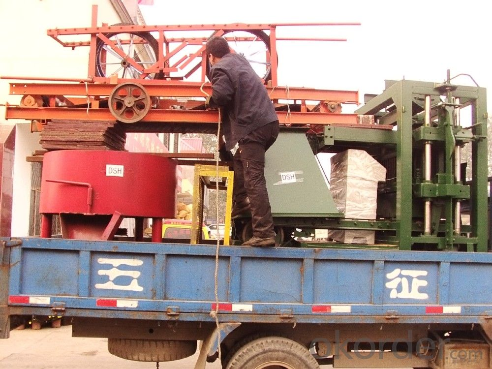 Full Automatic Concrete Hollow Brick Machine for Big Size of Bricks and Blocks  QTJ4-26