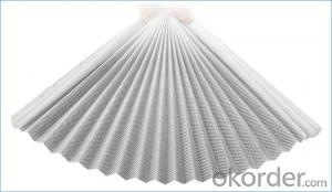 Fiberglass and Polyester Pleated Mesh in Grey