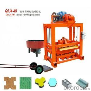 Interlocking Paving Concrete Block Machine Good Sale QTJ4-40