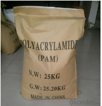 Anionic Polyacrylamide in industry waste water treatment in White Granule