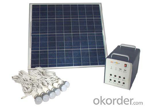 Home Off-grid Solar Power System DC Lighting JS-SPS-300C