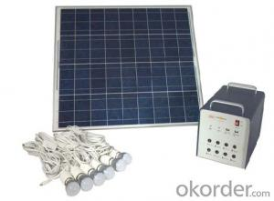 Home Off-grid Solar Power System DC Lighting JS-SPS-300C
