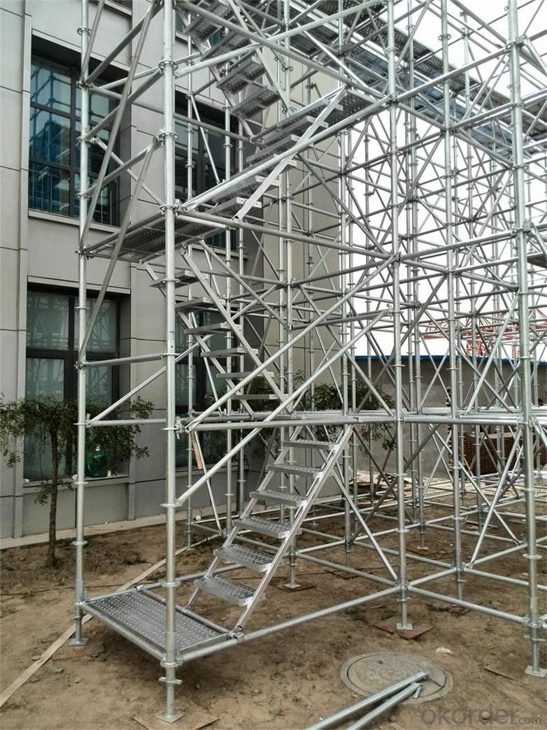 RingLock Scaffolding with  Cold Galvanized Surface