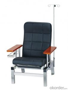 KXF- Stainless Trnsfusion Chair with Black Cushion