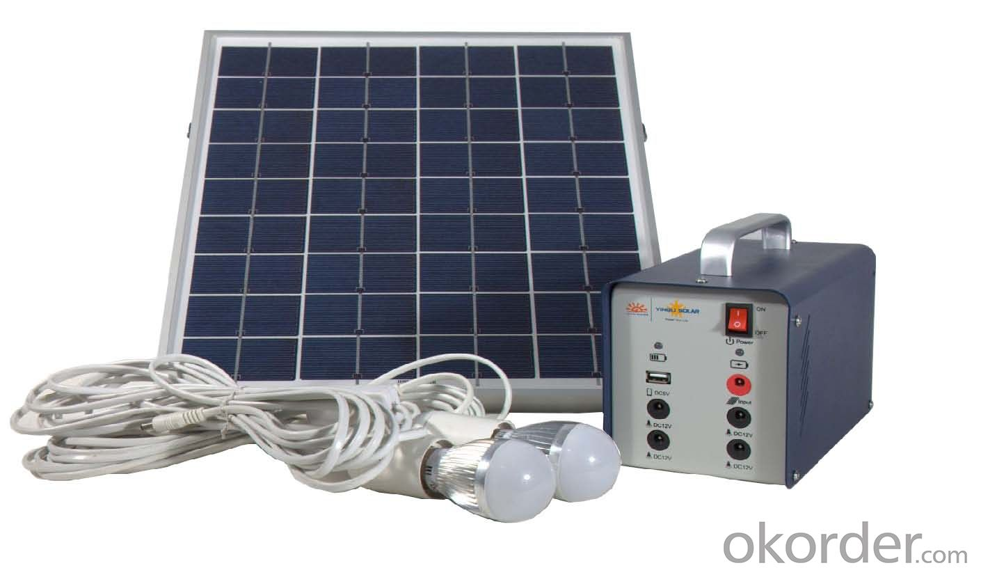 Home Off-grid Solar Power System DC Lighting JS-SPS-15