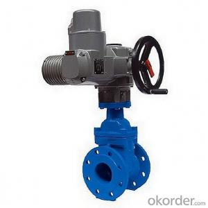 Ductile Iron Gate Valve Non-Rising Stem of DIN3352 with Electric