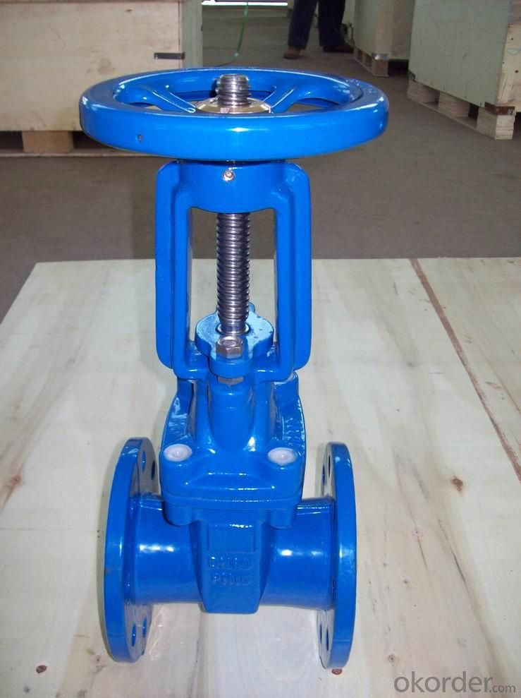 Rising Stem Solid Wedge Gate Valves Made of Ductile Iron