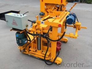 Movable Concrete Hollow Block Making Machine Small Machine QT40-3A