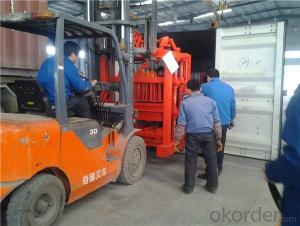 Small Mobile Block Moulding Machine Concrete Block Machines for Sale QMJ4-45
