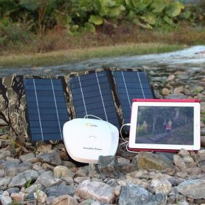 Solar Power Generator Portable Bank12v DC with ABS Casing, 3W LED Lamp