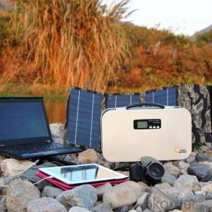 300W Portable AC Solar Generater, Solar Home Energy Power System with Lithium-ion Batteries