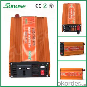 Off Grid 1000W DC 12/24V to AC 110/220V Pure Sine Wave Inverter