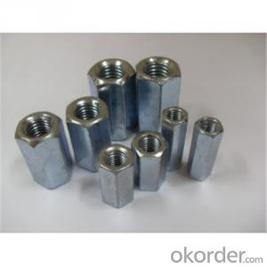 Zinc Plated Hex Coupling Nuts Punching Molding with Good Quality and Factory Price