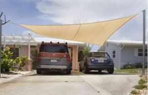 Shade Cloth Sail Shade for Car Sun Shade /Coffee shop and Kidgarden