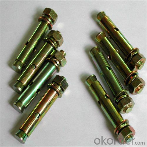 Galvanized Sleeve Anchors Flange Nut Anchors with Good Quality
