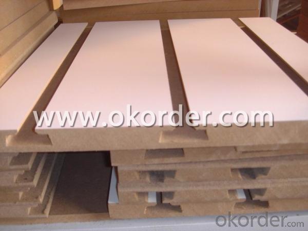 Melamine Slotted MDF Board for Furniture Making