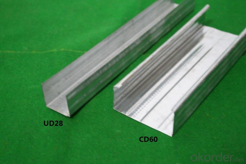 Galvanized Steel Profiles Drywall Main Channel