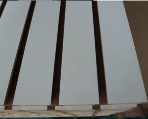18mm Melamine Slotted Board with Aluminum