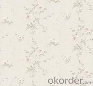 PVC Wallpaper Chinese Flower Fresh Embossed Dandelion PVC Wallpaper